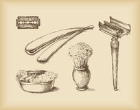 Shaving Equipment stock illustration