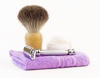 Shaving equipment Stock Images