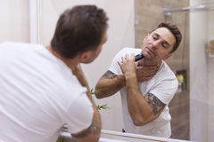 Shaving every morning Stock Photography