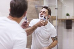 Shaving every morning Stock Photos