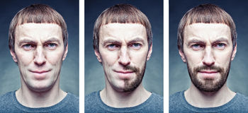 Shaving the face. Stage shaving the face. photo concept Royalty Free Stock Image