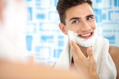 Shaving face Stock Photos