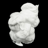Shaving Foam on Black Background Stock Images