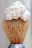 Shaving foam on brush Stock Image