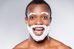 Shaving is fun. Stock Photos