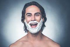 Shaving is fun. Royalty Free Stock Photo