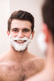 Shaving with fun Royalty Free Stock Images
