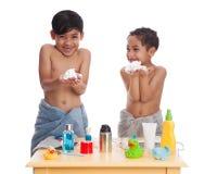 Shaving fun. Stock Images