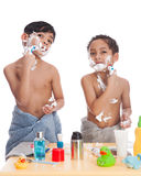 Shaving fun. Royalty Free Stock Photos