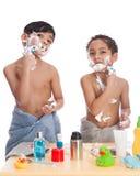 Shaving fun. Royalty Free Stock Photos