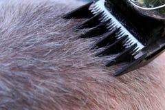 Shaving hair Royalty Free Stock Image