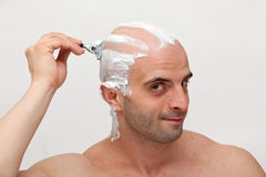 Shaving head Royalty Free Stock Photography