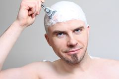 Shaving head Stock Photography