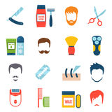 Shaving Icons Set Stock Photos