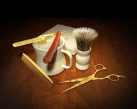Shaving Implements Stock Photography