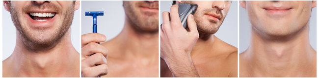 Shaving issues. royalty free stock photography