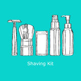 Shaving kit Stock Photos