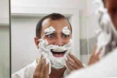 Shaving make me fun! Royalty Free Stock Image