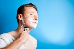 Shaving Man Stock Photography