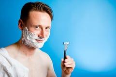Shaving Man Stock Images