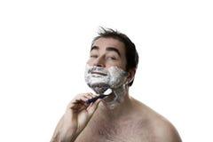 Shaving man Royalty Free Stock Photography