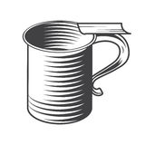 Shaving mug vector. Isolated on a white background vector illustration Royalty Free Stock Images