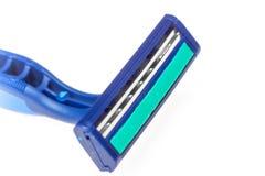 Shaving razor head closeup isolated Royalty Free Stock Photos