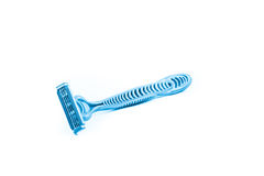 Shaving razor tri blade isolated on a white Royalty Free Stock Images