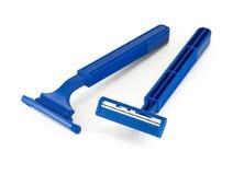 Shaving razors isolated Royalty Free Stock Images