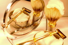 Shaving set Royalty Free Stock Images