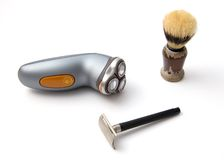 Shaving set. On white. 3 objects Stock Photography