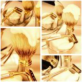 Shaving set collage Stock Image