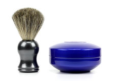 Shaving set Shaving Brush and Foam Royalty Free Stock Images