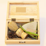 Shaving set. Traditional style barber brush and shave soap set Stock Photos