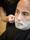 Shaving situation Royalty Free Stock Photography