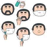 Shaving steps. Vector set of shaving steps Royalty Free Stock Photo