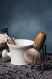 Shaving Tools. Wooden Shaving Tools on a table Royalty Free Stock Photography