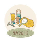 Shaving vector set Royalty Free Stock Images