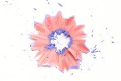 shavings карандаша лиловые стоковое изображение rf