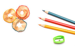 shavings карандаша стоковое фото