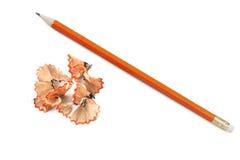 shavings карандаша стоковая фотография