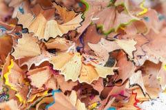 Shavings текстуры покрашенных карандашей Стоковая Фотография
