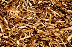 Предпосылка деревянных shavings Стоковое Изображение RF