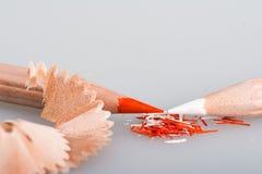 Shavings av blyertspennor Arkivbilder