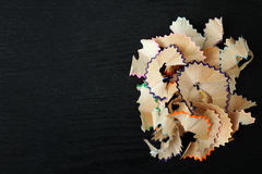Shavings from colored pencils Stock Photography