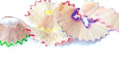 Shavings Crayon Стоковые Изображения RF
