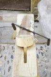 Shavings och wood klipp Arkivbild