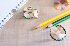 Shavings from the pencil Royalty Free Stock Image