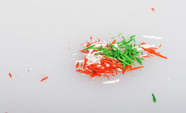Shavings of pencils Stock Photos
