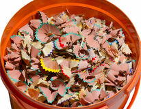 Shavings of the pencils Stock Photo